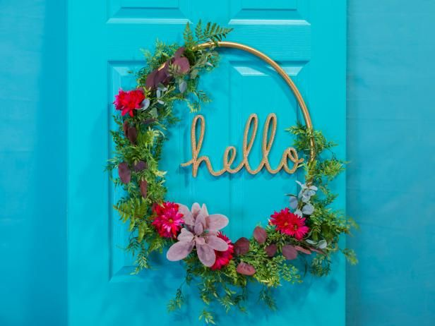 HGTV.com shares 20 trendy summer wreath ideas for your front door, including easy DIY projects.