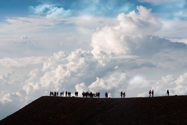 #Etna trekking around a crater