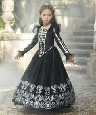 Skeleton Princess Costume for Girls