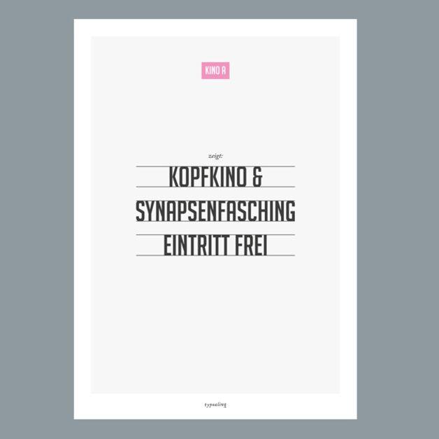 Originaldruck - Kunstdruck Poster / Kopfkino - ein Designerstück von typealive bei DaWanda