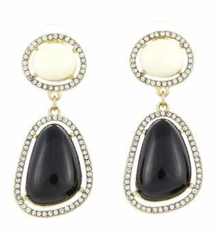 Pave crystal drops - B&W  Visit blackvelvetcollection/facebook.com to view full spring collection