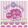 First Birthday Ladybug Luncheon Napkins