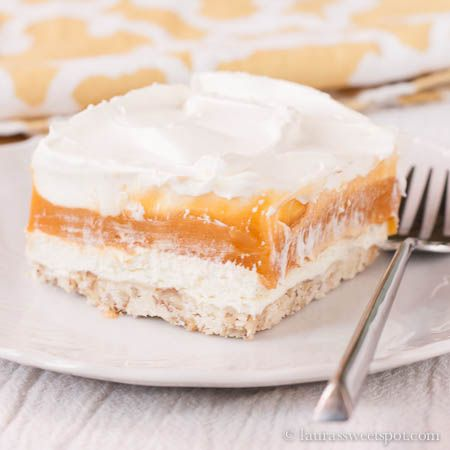 Pudding Lust Cake  ~   It's refrigerated and served chilled so it's cool and refreshing. Although, don't count on it being light… it definitely is a bit decadent for a pudding!