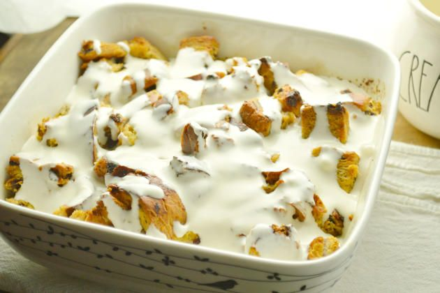 Cinnamon Raisin Bread Pudding will fill your kitchen with the most amazing…