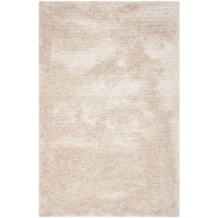 South Beach Shag Champagne (Beige) 5 ft. x 8 ft. Area Rug