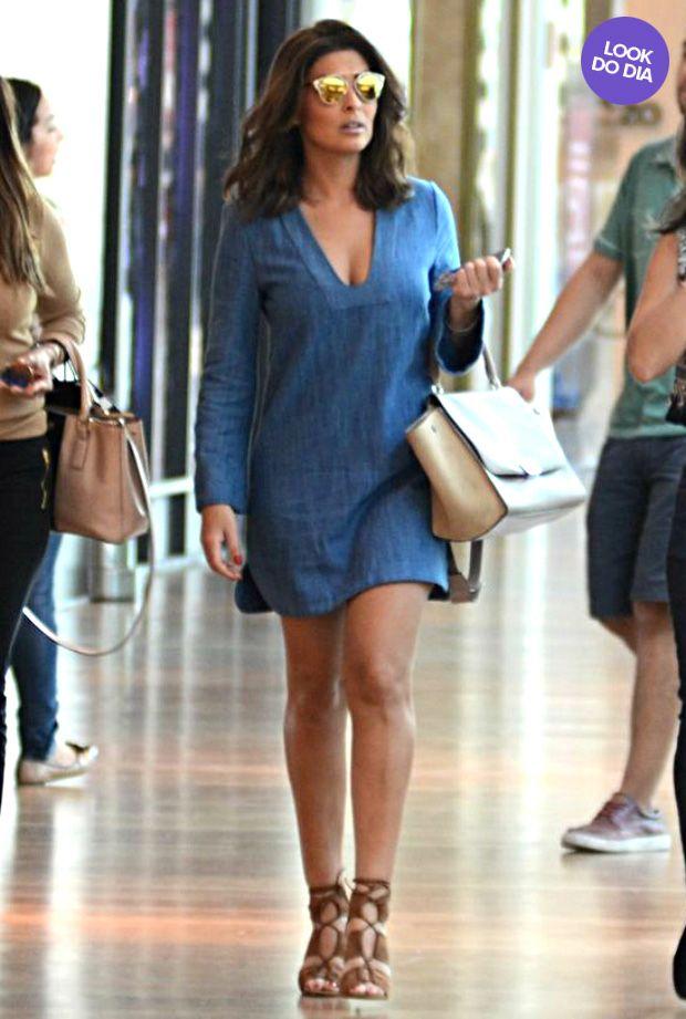 Look do dia: Juliana Paes usa vestido curtinho e óculos grifado no Rio