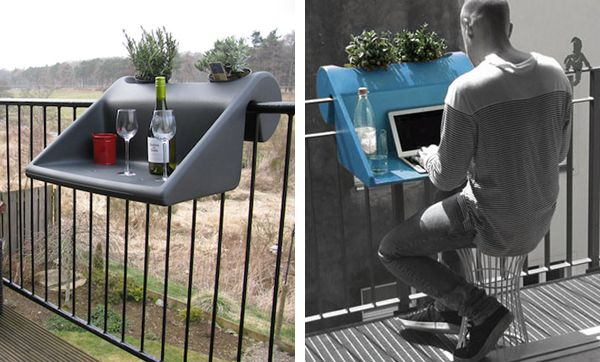This clever table has been designed to fit perfectly over for Uses of balcony