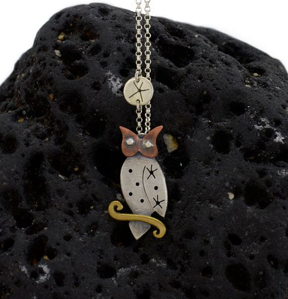 Owl Pendant by NaturesCrossroad on Etsy