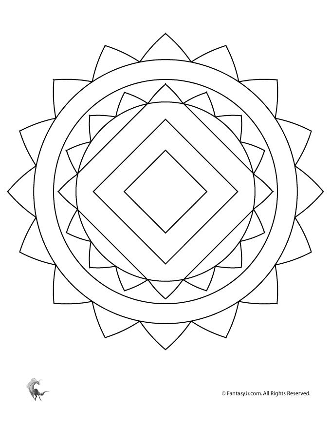 29 best mandalas images on Pinterest | Mandala coloring, Coloring ...