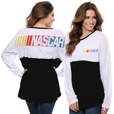 Women's NASCAR Merchandise Concepts Sport Black Comeback Long Sleeve T-Shirt