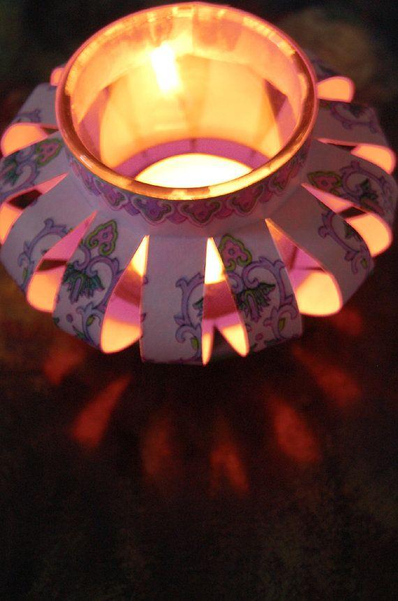 Digital Paper for Chinese Lanterns Vintage Asian Designs for DIY Tealight or Votive Paper Lantern Craft Project PAPER 8