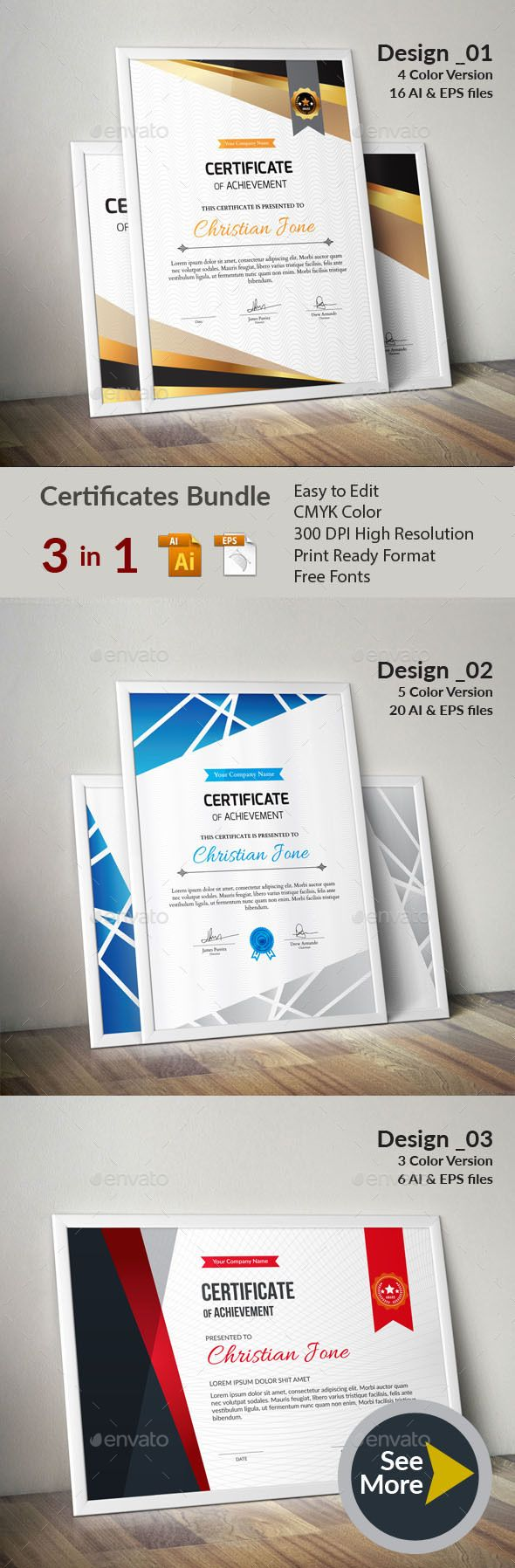 #Certificate - #Certificates Stationery Download here: https://graphicriver.net/item/certificate/19747928?ref=alena994