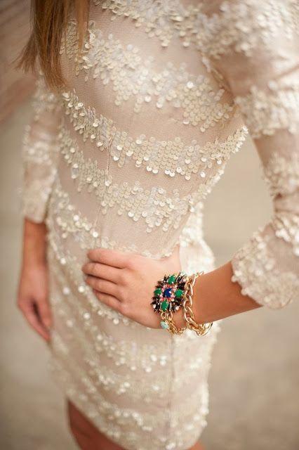 Very pretty white sequin dress