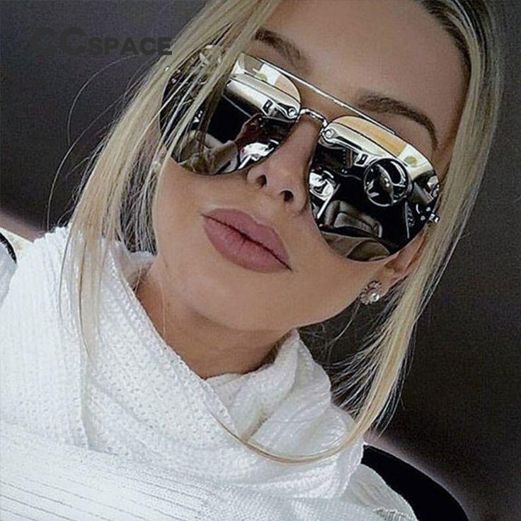 Aliexpress.com: Compre CCspace Senhoras Das Mulheres Dos Homens do Aviador Óculos De Sol Sem Aro Armações De Metal Marca de Moda Eyewear UV400 Óculos de Espelhos Do Vintage Oculos De Sol Gafas De Sol de confiança gafas de sol fornecedores em CCspace Official Store