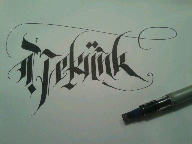 Nekünk - calligraphy