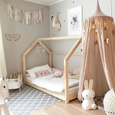 Inspiration for girls bedrooms - ideas to style up girls rooms.   Canopy play area.