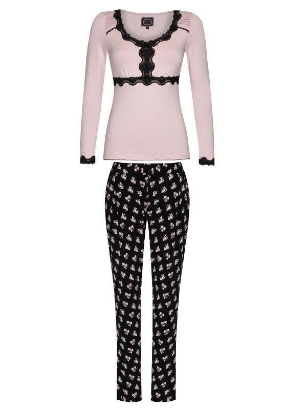 Vive Maria My English Rose Pyjama Schlafanzug lila/allover-Druck Damen Wäschesets, Pyjamas & Nachtwäsche floral print