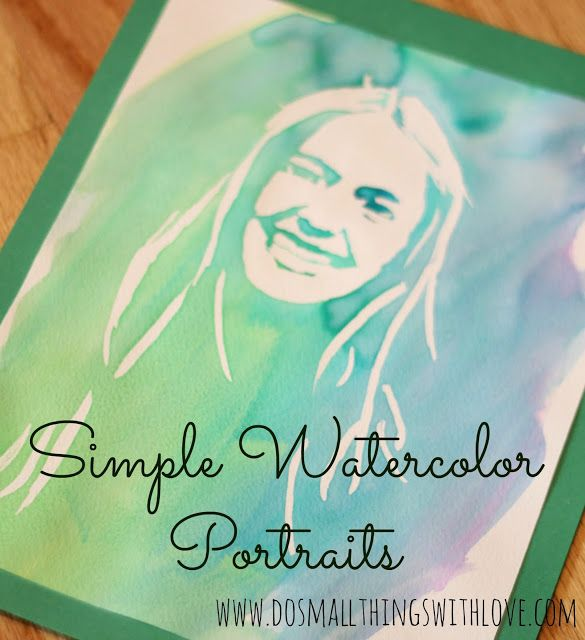 EASY Watercolor Portrait-->>>>SERIOUSLY I COULD DO THIS!  What a cool trick!