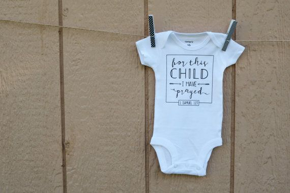 For This Child I Prayed  1 Samuel 1:27  by FirstLoveThreads