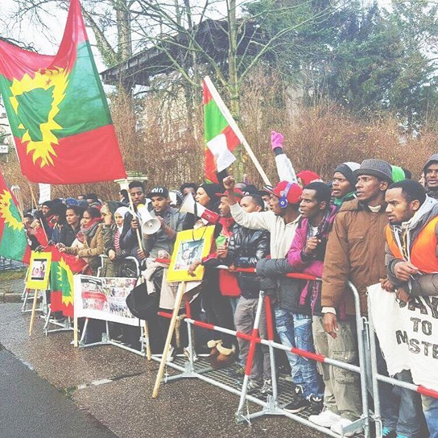 Global solidarity rally in Berlin in front of the Ethiopian Embassy