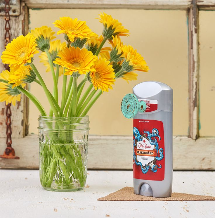 Add a distressed drawer pull to a stick of Old Spice Krakengard Deodorant. There! That seems good.
