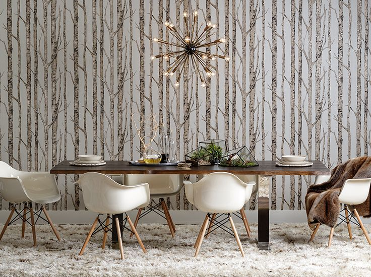 Step into another world..one of earthy layers and retro textures. A gorgeous solid-wood table with metal accents grounds the space. Toulon Dining Table