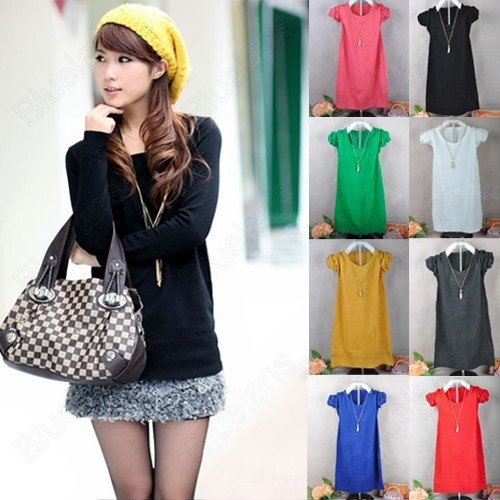 Korean All-match Womens Loose Long Sleeve Round Neck Sweater Fashion Outerwear 10% off $9.89