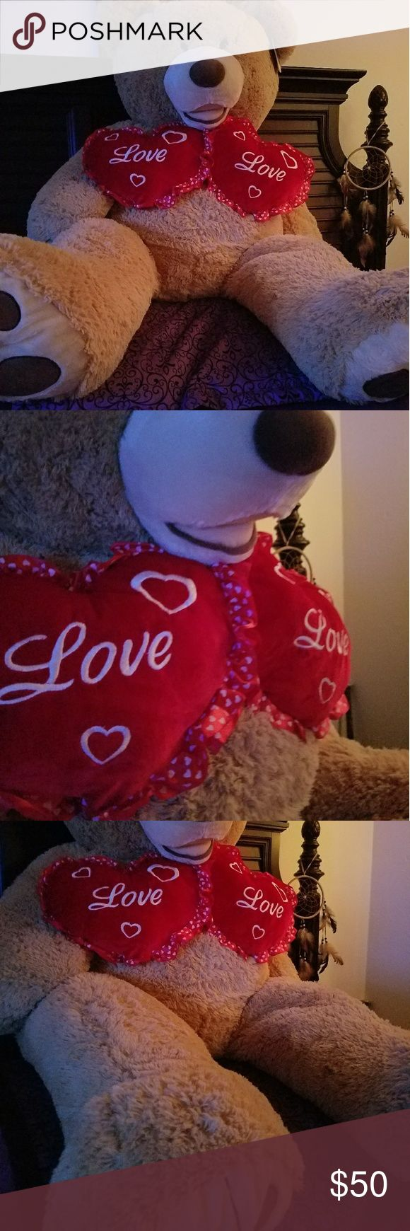 "53"" Plush Teddy Bear 🐻 Plush Teddy Bear 🐻 so so cute but takes up space in my house. Needs a new home. Please make someone happy ❤ new with tags. Other"