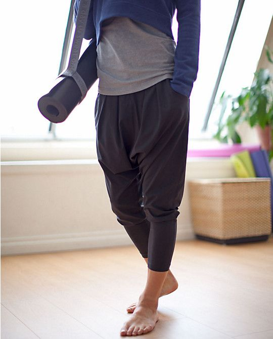 Lululemon, happy hatha yoga baggy harem pants. @ http://www.FitnessApparelExpress.com
