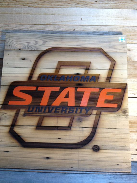 O STATE Oklahoma State University  23 x 23 approx. by LaserZStudio, $75.00