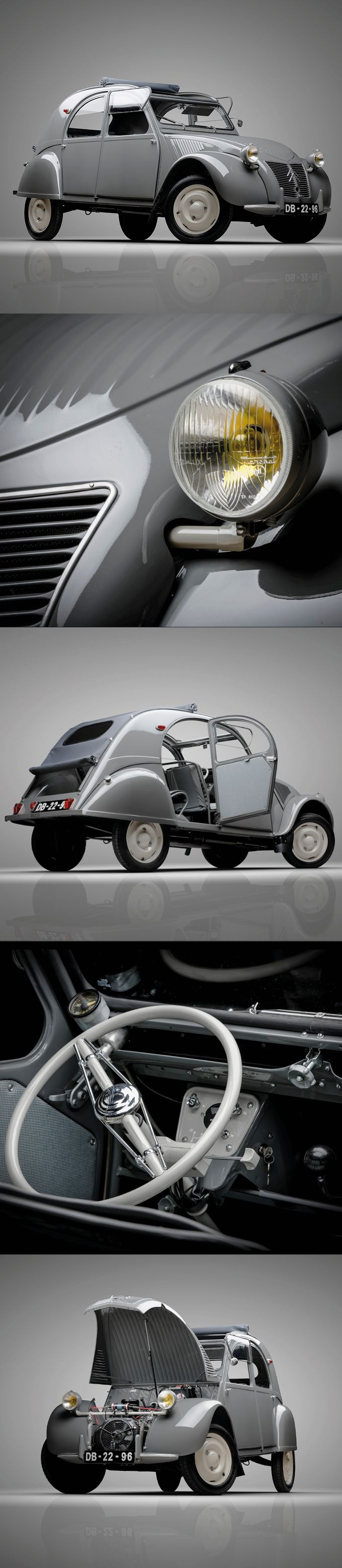 1948 Citroën 2CV / ripple bonnet / France / grey white / photography: Pedro Mota