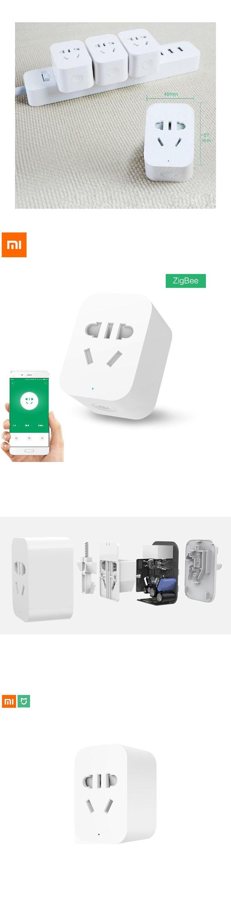 Original Xiaomi Mi Smart WiFi Socket Plug ZigBee Version Remote Control Accept EU US AU Plug Adaptor Using by Xiaomi Home APP