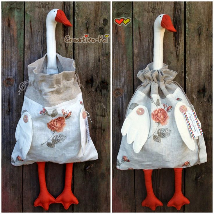 Creative-Ki: Goose-bag 3 /Гусь-пакетница. Новый вариант.