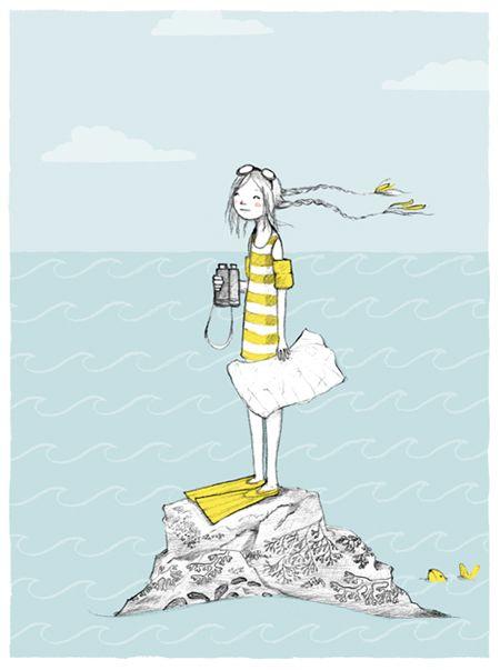 """Abigail Halpin: Illustration Friday - """"Ocean"""""""