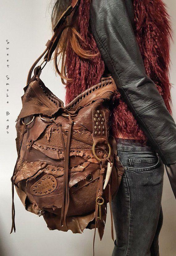 Boho Purses Distressed Leather Bag