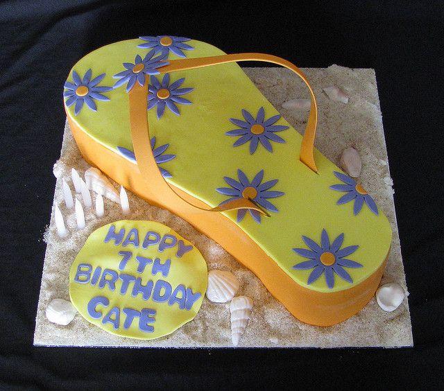 flip flop cakes | flip flop cake cake desing by planet cake www facebook com clarescakes ...