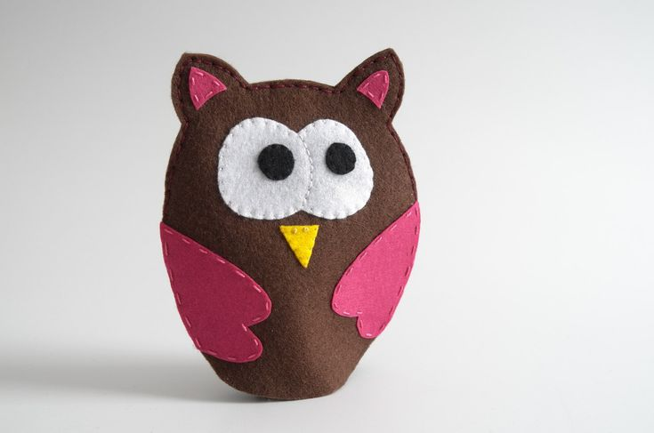 Owl toy - owl, owl gifts, owl decor, owl plush, owl figurine, owl baby shower, owl baby, owl nursery decor, hand puppets, children toy - by KinkinPuppets on Etsy