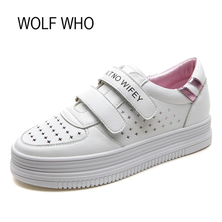 Cheap heel platform shoes, Buy Quality platform shoes directly from China heels platform Suppliers: WOLF WHO 2017 Women Hidden Heel Platform Shoes White Krasovki Ladies Female Casual Fashion Tenis Feminino Chaussure Femme H-123