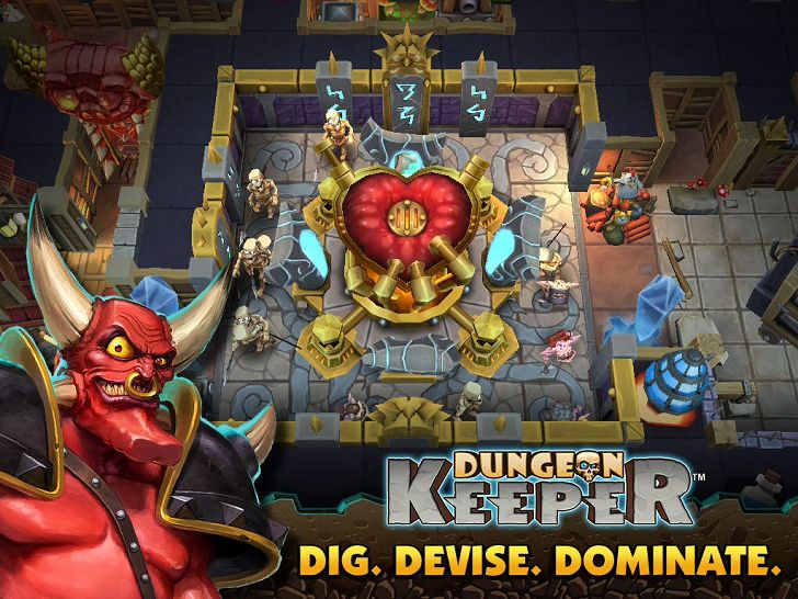 Dungeon Keeper App by Electronic Arts. Tower Defense Apps.