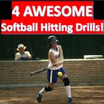 It is essential that the coach bring variety into the practice sections. Here are 4 AWESOME SOFTBALL HITTING DRILLS to get the best out of the hitters: #softball #softballdrills #softballhittingdrills