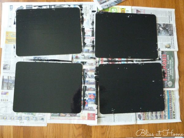 Diy chalkboard paint placemats inspiration chalkboard for Diy chalk paint problems