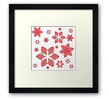 red stars Framed Print