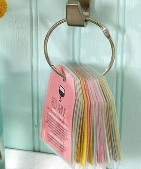 Brilliant! Laundry stain removal tags using Avery 22802 printable tags. No cutting or hole punching  required.
