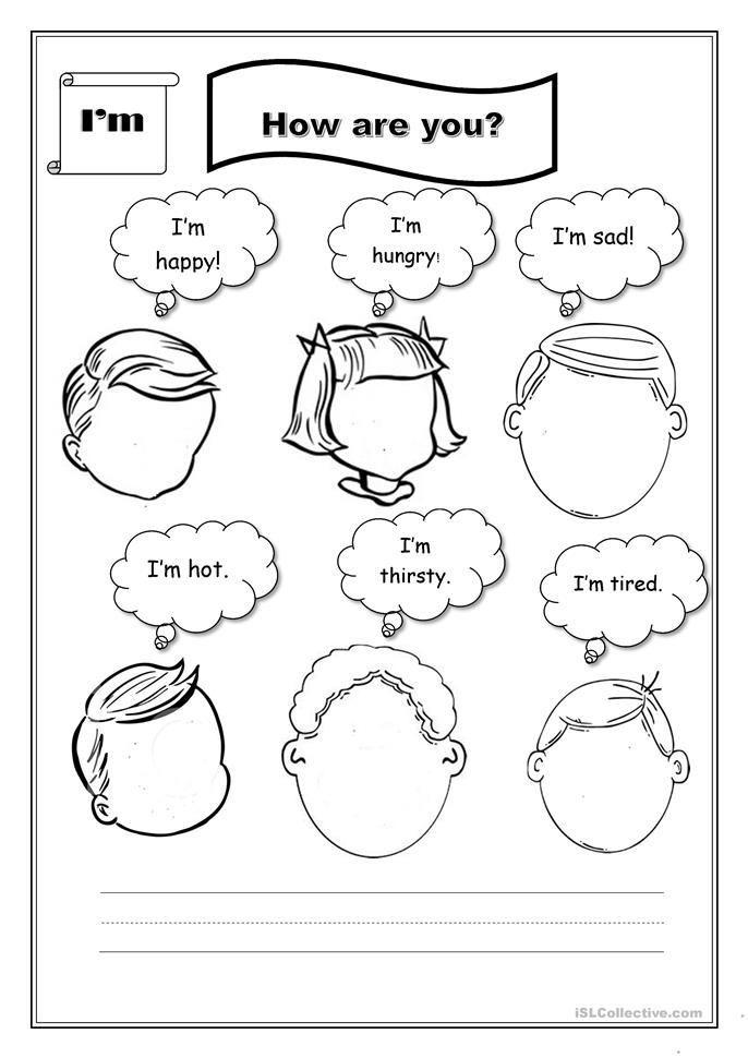 How Do You Feel? Worksheet - Free ESL Printable Worksheets Made By Teachers  Feelings Activities, How Are You Feeling, English Worksheets For Kids