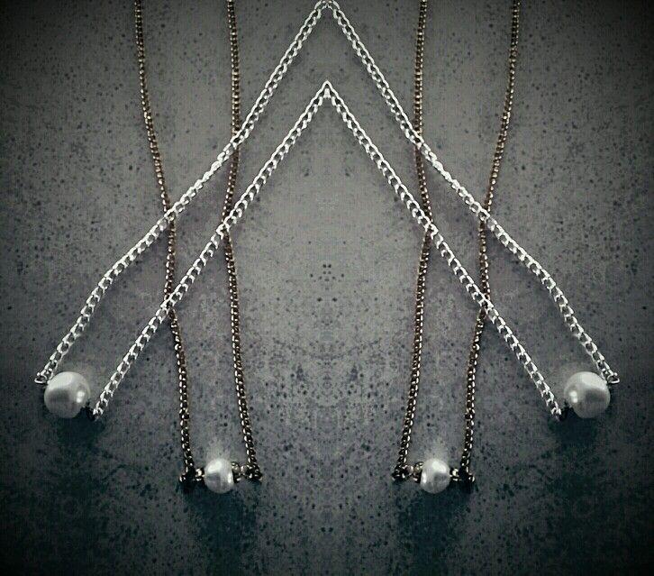 Super Cute Gold & Silver Pearl Necklaces