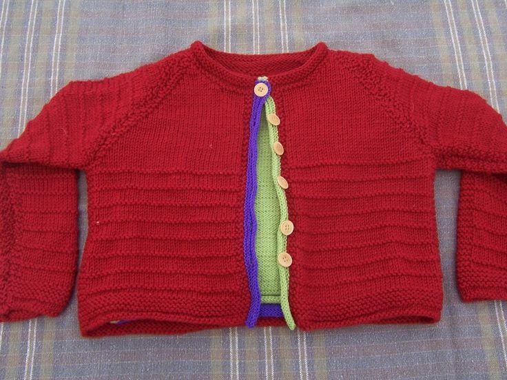 VALERIA, strikkeopskrift til ulden barnebluse med cardigan fra domoras