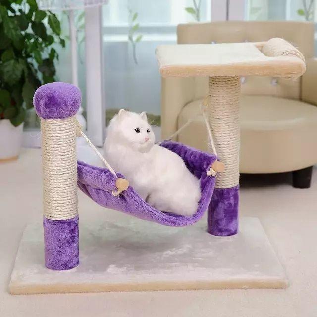 Nueva llegada Cat Furniture Scratcher Post Cat Hamaca para gatito divertido