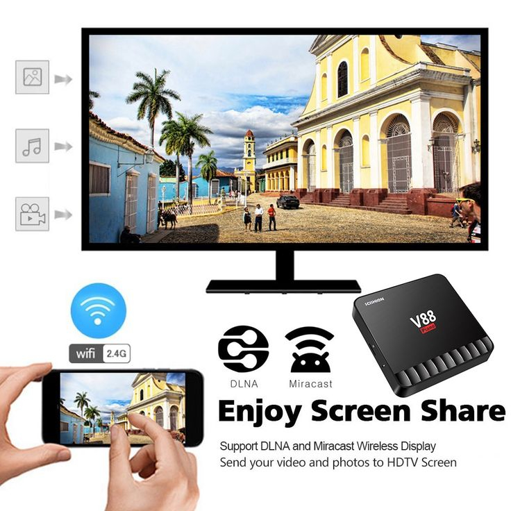 SCISHION V88 Piano Smart 4GB / 16GB Android 7.1 TV Box RK3328 Sales Online eu - Tomtop