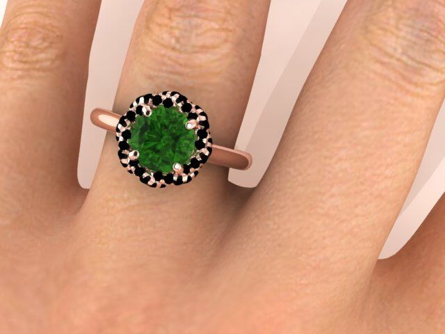 Wedding Bridal Ring, Bohemian Engagement Ring, Bohemian Engagement Rings On Etsy, Green Tourmaline Surrounded With Black Diamonds by BridalRings on Etsy https://www.etsy.com/listing/258361150/wedding-bridal-ring-bohemian-engagement