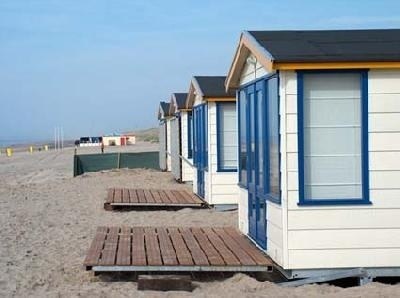 Holiday houses in Noordwijk, Netherlands, literally on the #beach.